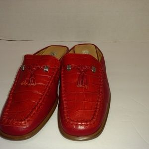 Brighton red loafers size 8